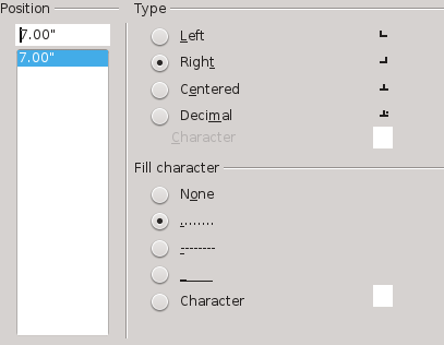 Tab Settings from the Tabs tab.