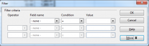 More advanced filter for pivot tables