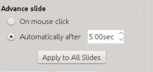 Advance Slide Transition