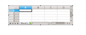 LibreOffice Impress Spreadsheet OLE Object