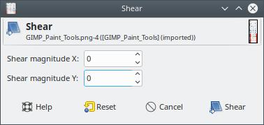 GIMP Shear Tool