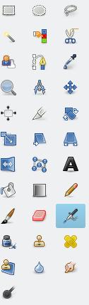 GIMP Tools Sidebar