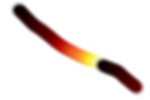 GIMP Gradient brush stroke