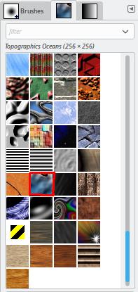 GIMP Pattern selected