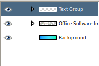 GIMP Layer groups contracted