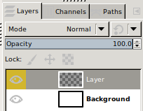 GIMP Layer with added Color tag