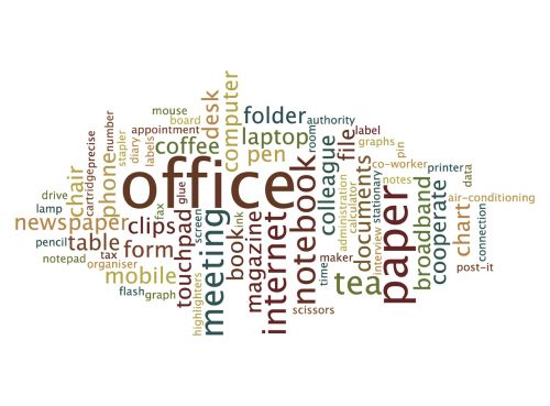 Office Word Cloud image from https://www.needpix.com/photo/1321215/abstract-background-business-cloud-concept-graphic-group-illustration-office