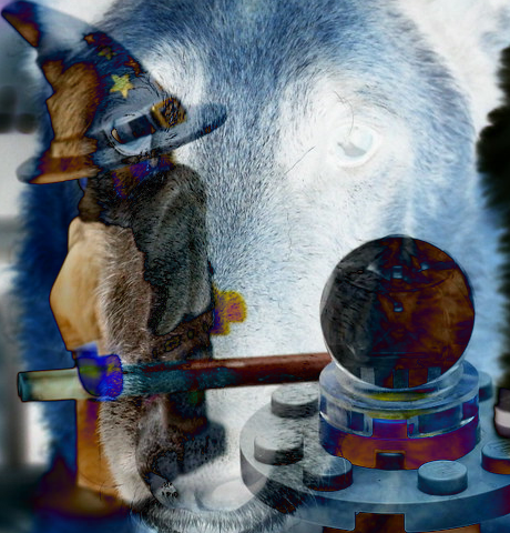 Dog and Toy images combined using Difference Layer Mode